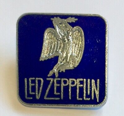 Led Zeppelin Badge Vintage Enamel Pin Badge Blue Enamel On Silver Colour Gilt • 3.65£