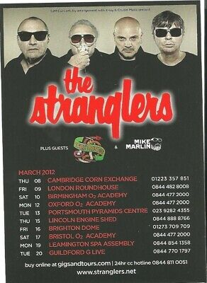 The Stranglers  Uk Tour March 2012 Flyer • 0.99£