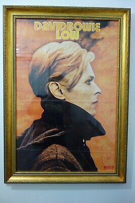 DAVID BOWIE  LOW Rca 1977 ORIGINAL UK  PROMOTIONAL POSTER FRAMED • 450£