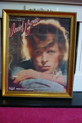 David Bowie Young Americans Original Uk  Promotional Poster Framed • 500£