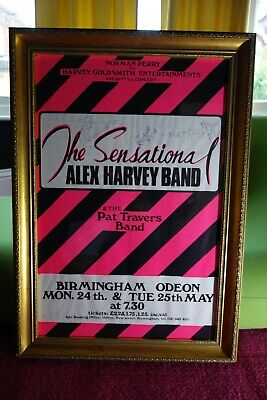 SENSATIONAL ALEX HARVEY BAND  SIGNED Autographed Concert Poster STUNNING • 550£