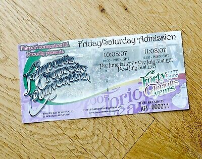 Fairport's Cropredy Convention Ticket Stub 2007 • 2.99£
