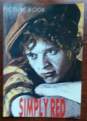 SIMPLY RED - PICTURE BOOK - Promotional Postcard Collectable  • 0.99£