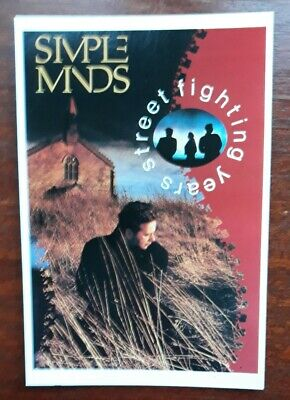 SIMPLE MINDS - Promotional Postcard Collectable  • 0.99£