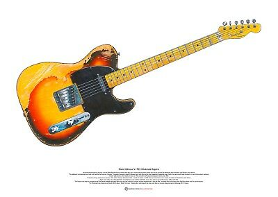 David Gilmour's 1955 Workmate Esquire ART POSTER A2 Size • 27.50£