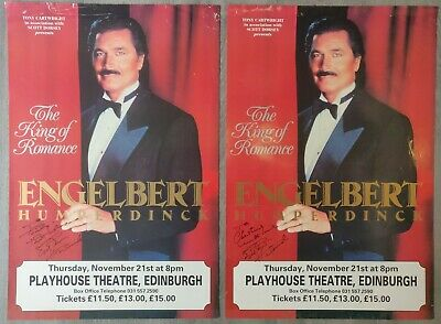 Engelbert Humperdinck Signed Posters (X2) From Edinburgh Playhouse, 1991 • 35£