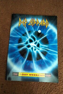 DEF LEPPARD  The 7-Day Weekend Tour  Programme - 1992 93 • 8£