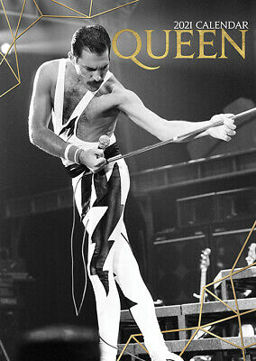 Calendar - Queen 2021 Wall Calendar - Includes 70 Coloured Dot Stickers • 12£