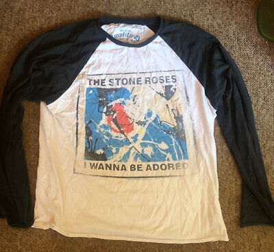 The Stone Roses 'I Wanna Be Adored' Official Long Sleeve T Shirt Rare M • 9.99£