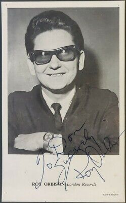Roy Orbison Signed London Records Promo Postcard From Radio One Producer Archive • 280£