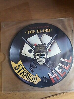 "The Clash - Straight To Hell 7"" Vinyl Single Picture Disc 1982 VG Double A Rare! • 5£"