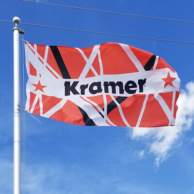 Kramer® Eddie Red-White-Black Striped Flag 3' X 5' • 11.80£