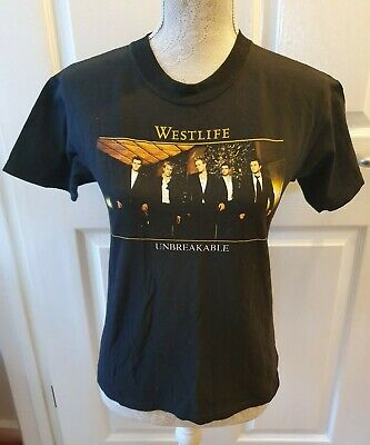 2003 Concert Tour, Westlife Unbreakable Top, T-shirt Size M. • 16.99£