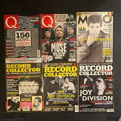 6 Joy Division Magazines - All In Top Condition - Ian Curtis Factory Records • 14.95£
