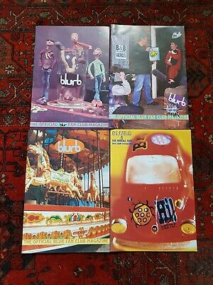 The Official Blur Fan Club Magazine Bundle - Issues 2, 3, 4 & 5 • 36£