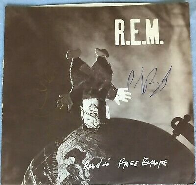 """R.E.M. Radio Free Europe 7"""" IRS Version Signed By Peter & Mike Unplayed • 16£"""