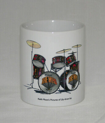 Drum Mug. Keith Moon's Pictures Of Lily Drum Kit • 14.99£