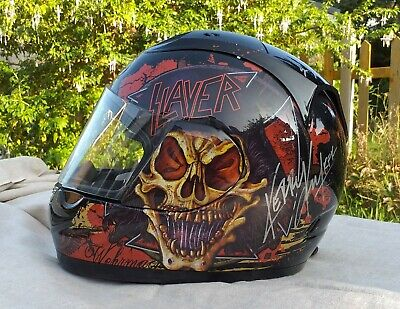 SLAYER MOTORCYCLE HELMET - Signed By Original Lineup *RARE* Autograph Hanneman • 180£