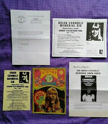 The Sweet - Brian Connolly -  Flyer / Notes And Disco 45 Cover Only • 5.99£