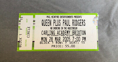 Queen & Paul Rodgers Concert Ticket Stub (London 28 March 2005) RARE • 3.99£