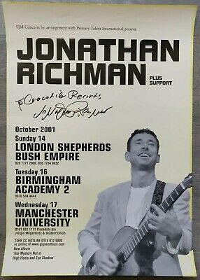 Jonathan Richman Signed UK Tour Poster, 2001 - The Modern Lovers • 50£