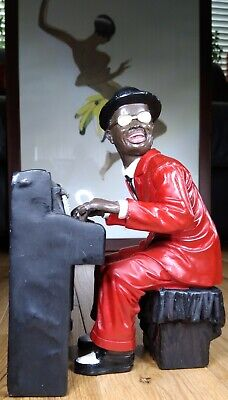 Piano Player Figurine Sculpture Jazz Blues Pianist Musician Statue • 11£