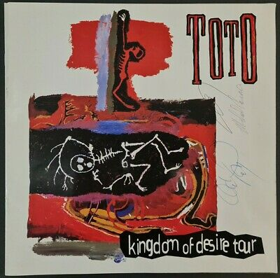 Toto Signed 1993 'Kingdom Of Desire' Tour Programme - Steve, David & Michael • 100£