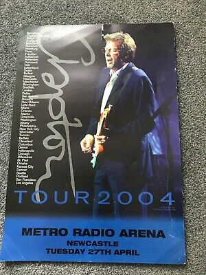 ERIC CLAPTON Original Concert Tour Poster Live In Newcastle 27th April 2004 • 9.95£