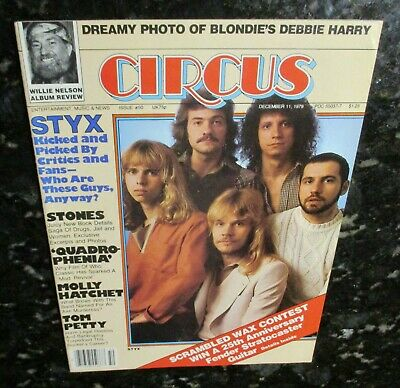 The Styx 1979 Circus Magazine Blondie Centerfold Tom Petty The Stones NEAR MINT • 7.40£