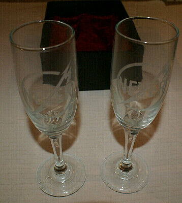 Metallica Two Champagne Flutes Through The Never 2013 Glasses In Black Box New • 300.15£