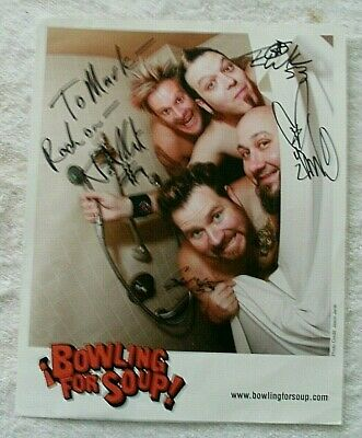 Bowling For Soup Colour Signed Promo Photo With Coa  • 0.49£