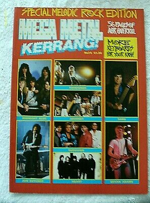 Kerrang Magazine No.14 Melodic Rock Edition Foreigner Journey Heart Bryan Adams  • 0.49£