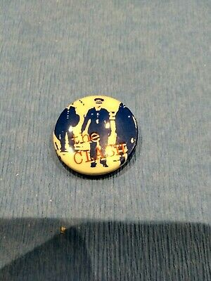 The Clash I Fought The Law  32mm PIN PUNK BADGE 1970s Vintage Original  • 3£