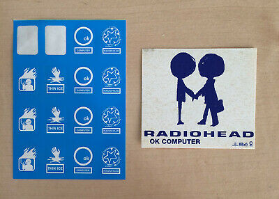 Vintage Radiohead Sticker Set - OK Computer W.A.S.T.E Products Original Stickers • 0.99£