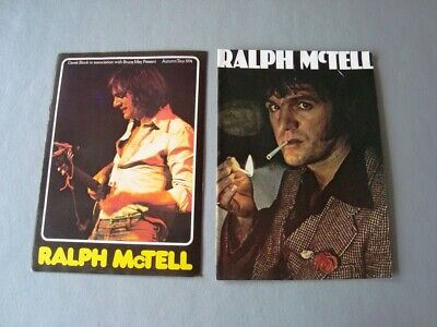 Ralph McTell Tour Programmes 1975 & 2 Tickets £1.65 / 1974 / 12 Songs With Words • 7.99£