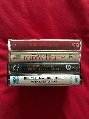Bundle Of 4 Buddy Holly Music Cassettes. • 4.99£