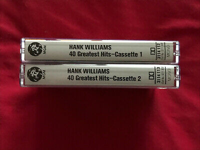 Hank Williams 40 Greatest Hits X 2 Music Cassettes. • 2.99£