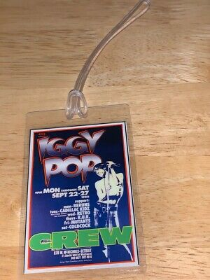 Iggy Pop REPLICA Backstage Pass • 2.96£