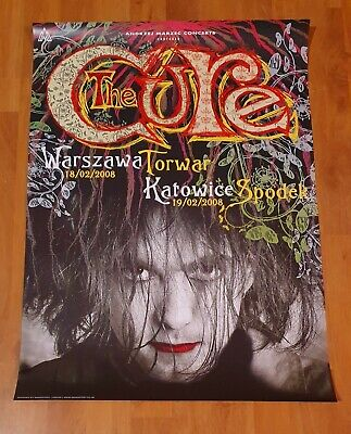 The Cure - LIMITED EDITION POSTER, Shows From Poland 2008, 4 Tour, OFFICIAL • 48.78£