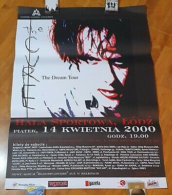The Cure - RARE CONCERT POSTER, Show From Poland 2000, Bloodflowers, Dream Tour • 30.02£
