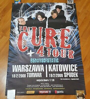 The Cure - RARE CONCERT POSTER, Shows From Poland 2008, 4 Tour, Rare, Promo • 30.02£