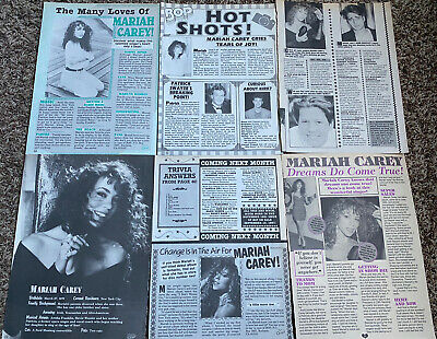 Mariah Carey Teen Magazine Clippings Articles Young 1990's • 7.50£