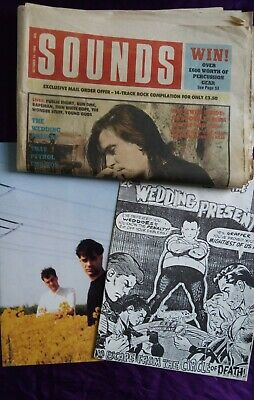 The Wedding Present  Invasion Of  Fanzine. Poster And Sounds Music Paper (1988). • 25£