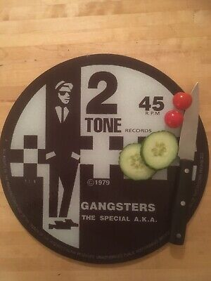 The Specials  Glass Chopping Board 30cm  2 Tone Gangsters • 14.99£