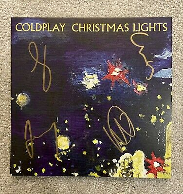 Coldplay Vinyl Album Signed By Full Band AFTAL OnlineCOA • 395£