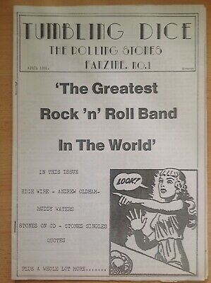 Tumbling Dice - Rolling Stones Fanzine No 1 April 1991 A4 • 7£
