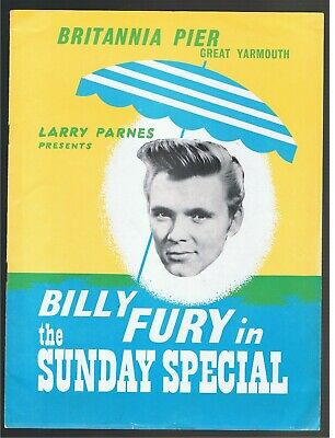 BILLY FURY IN THE SUNDAY SPECIAL 1961, GREAT YARMOUTH - Joe Brown, Georgie Fame • 99.99£