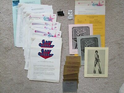 Gary Glitter Fan Club Newsletters / Memorabilia 1970's (Sue Drake) RARE • 57.11£