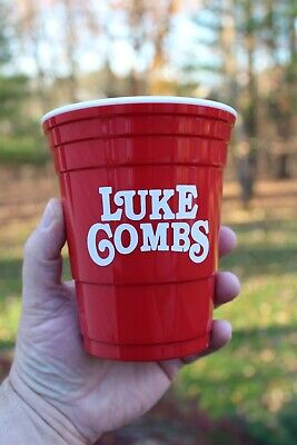 Luke Combs VIB Very Important Bootlegger Reusable Red Solo Cup With Lid Country • 35.44£