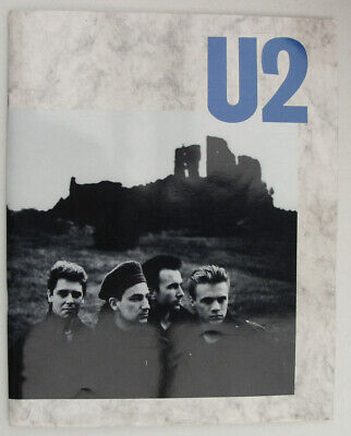 U2 'The Unforgettable Fire' Tour Programme - 1984 BLUE - Europe/ UK/ USA • 12.95£